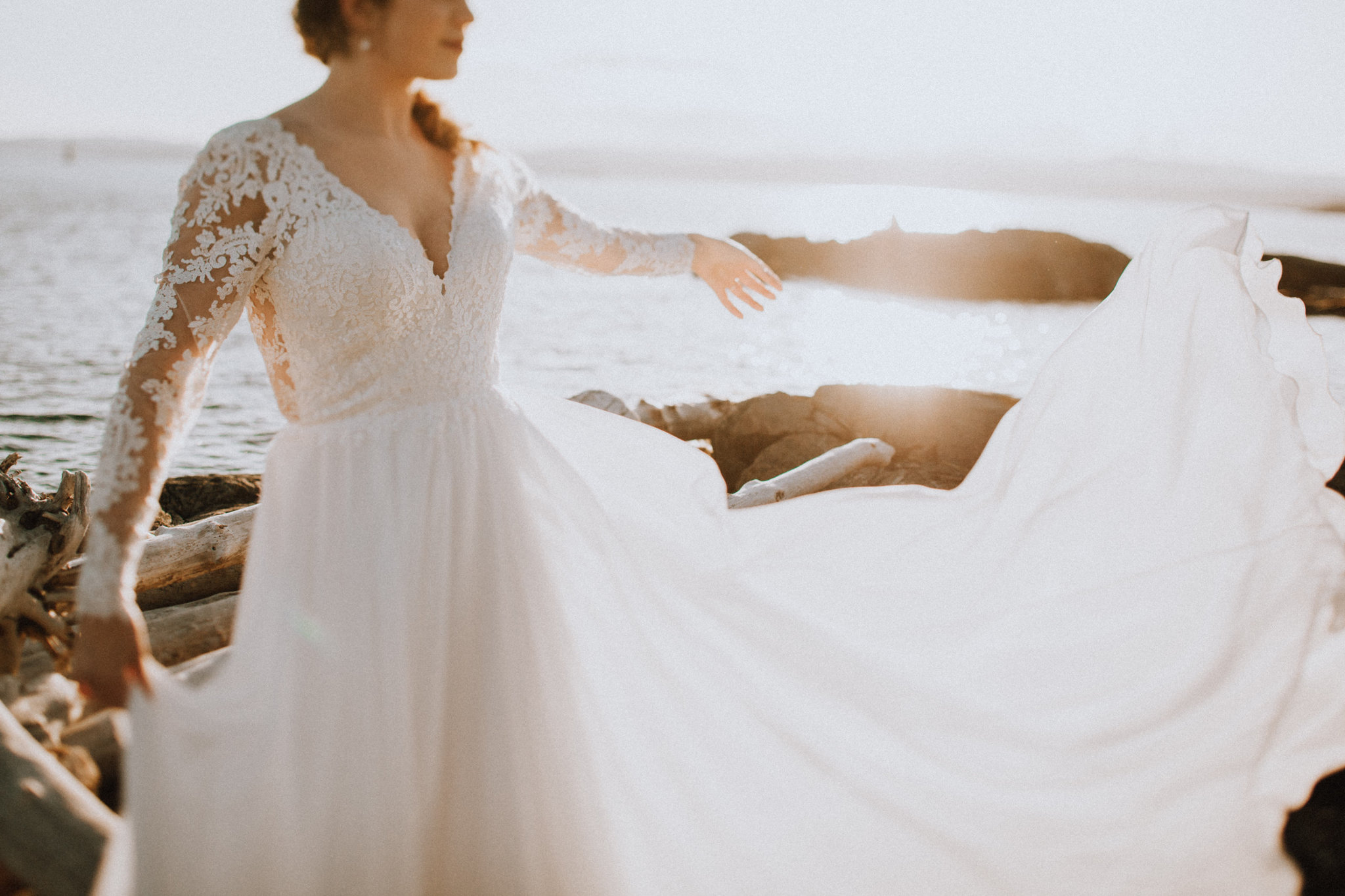Beach Bridal With Lis Simon Wedding Gown Sunset