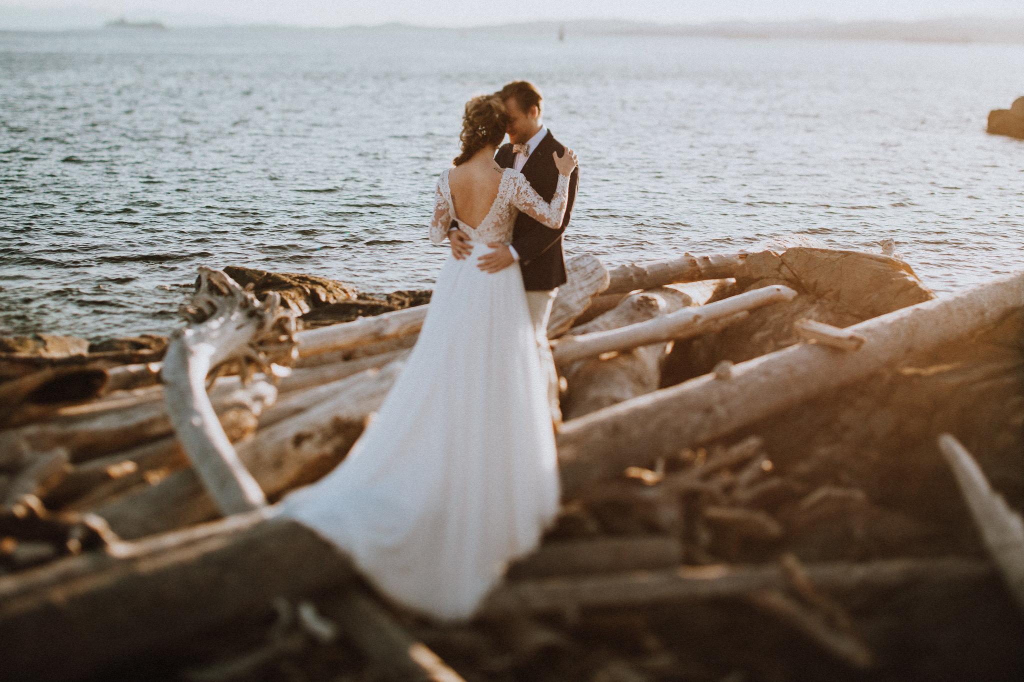 Couple on Beach Bridal Session Shantal Marie Creative Photography