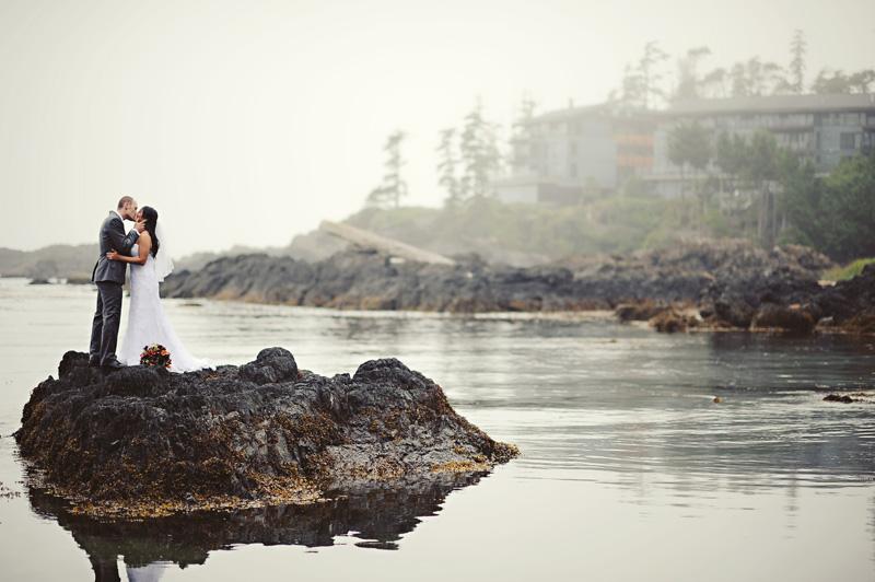 Couple at Black Rock Oceanfront Resort on Vancouver Island West Coast Weddings Magazine