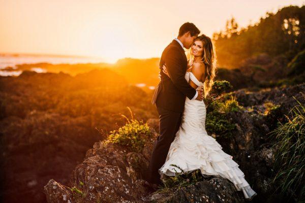 Sunset Wedding by Ryan Flynn at Black Rock Oceanfront Resort on Vancouver Island