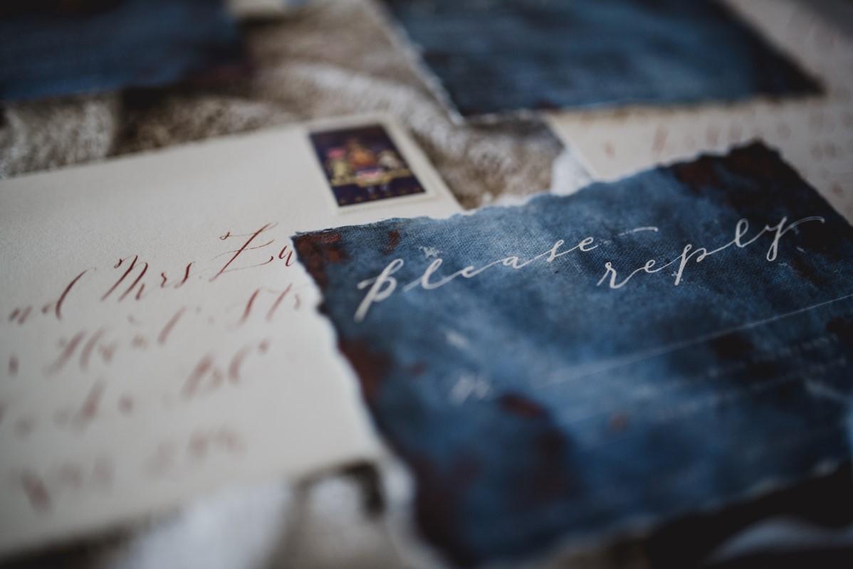 Nautical Blue Beauty Paper Suite Dark Blue Washed Invite West Coast Weddings Magazine Faven Invitations