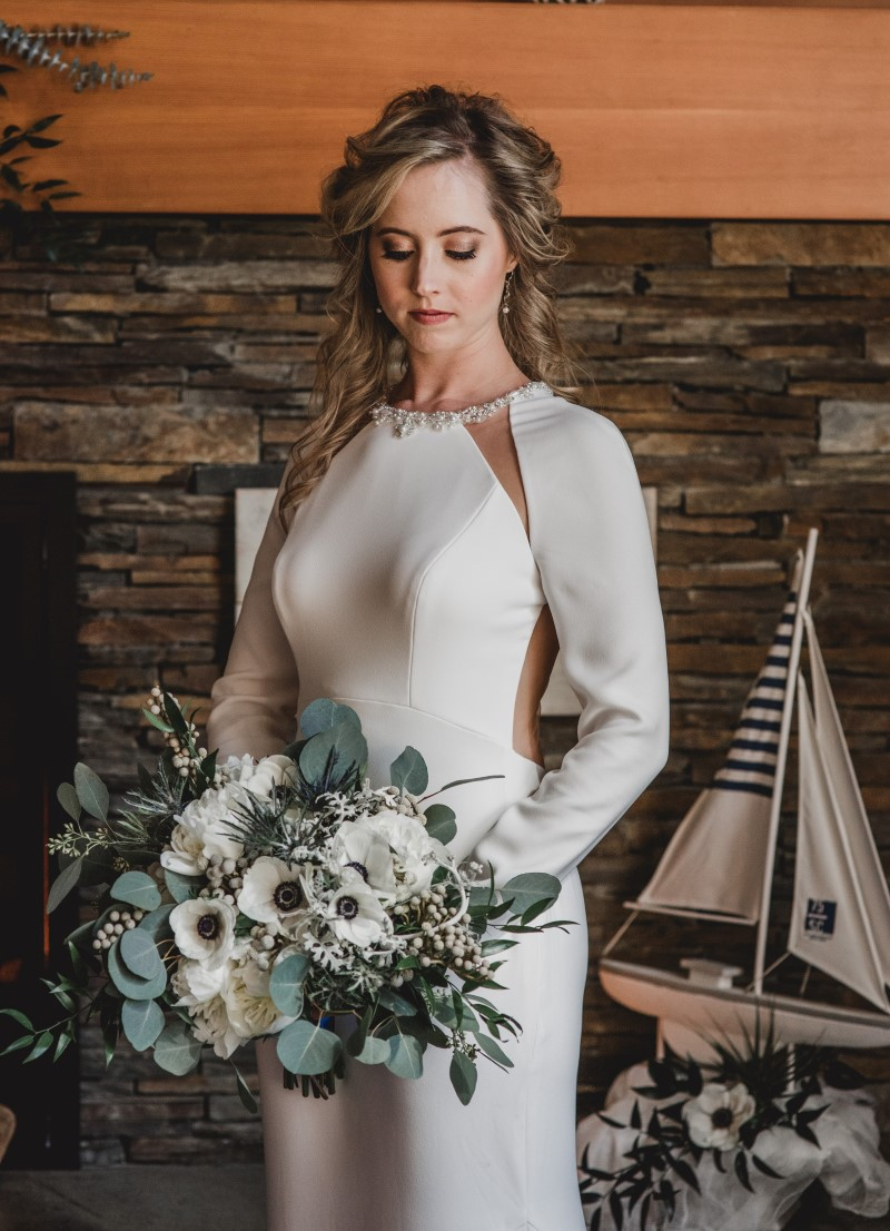 Bride in Bliss Gown Nautical Blue Beauty by Borrowed and Blue West Coast Weddings Magazine