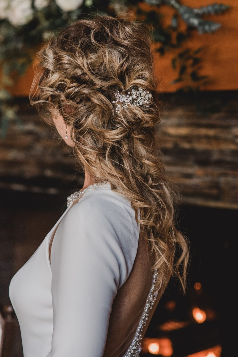 Bridal Hair by Artistry by Alexa Nautical Blue Beauty Theme by Borrowed and Blue Planning West Coast Weddings Magazine