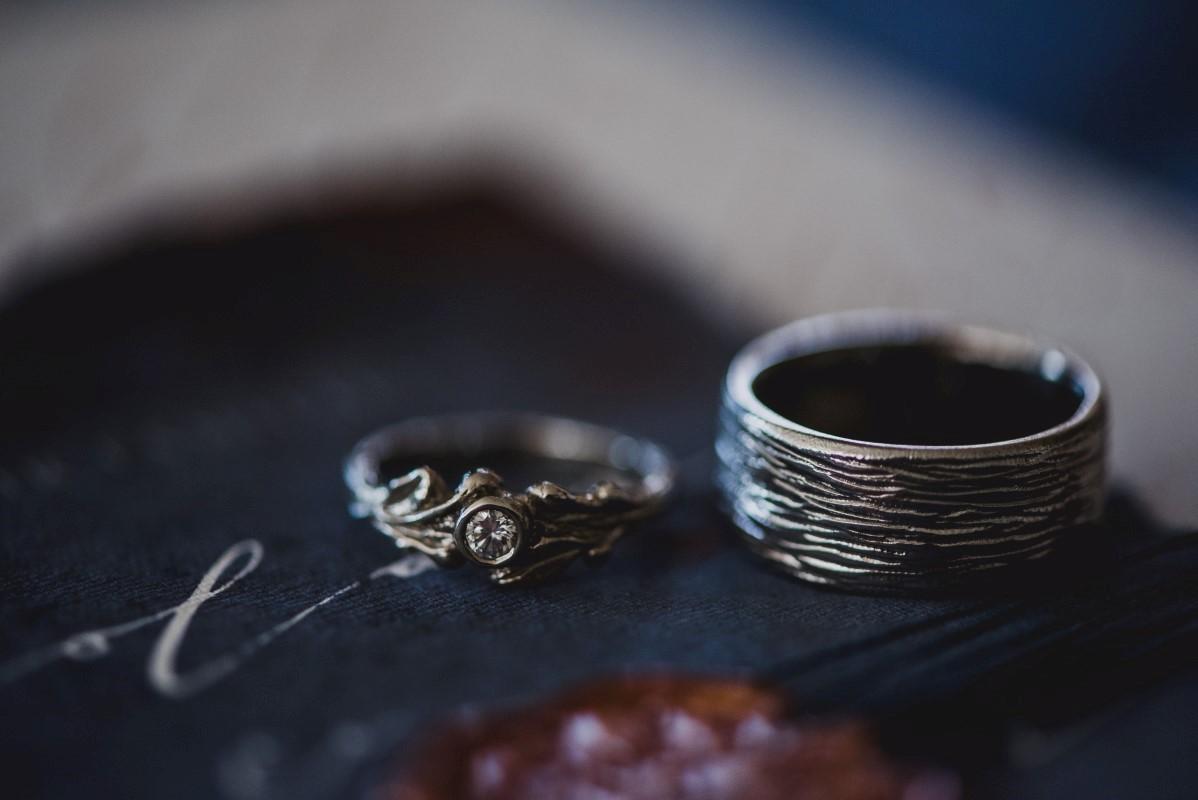 Wedding Rings by Melissa Caron Nautical Blue Beauty West Coast Weddings Magazine