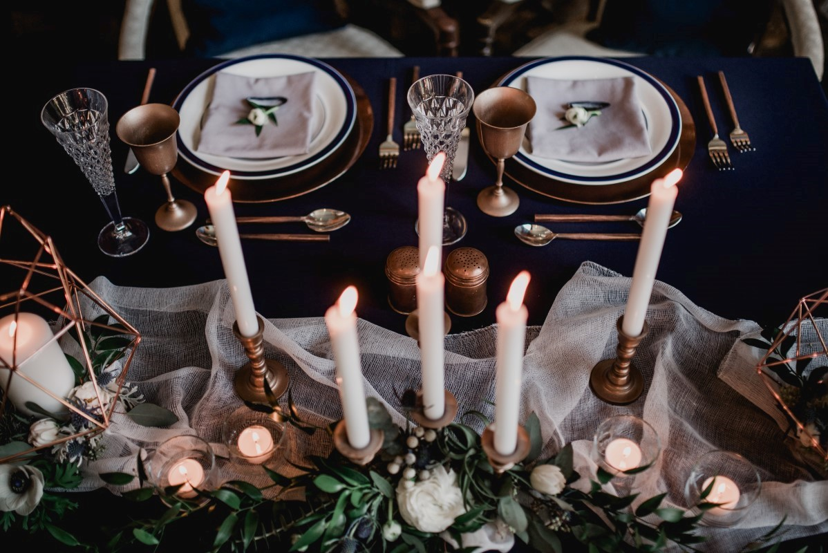Reception Table by Beauty Bride BC Wedding Magazine Nautical Blue theme