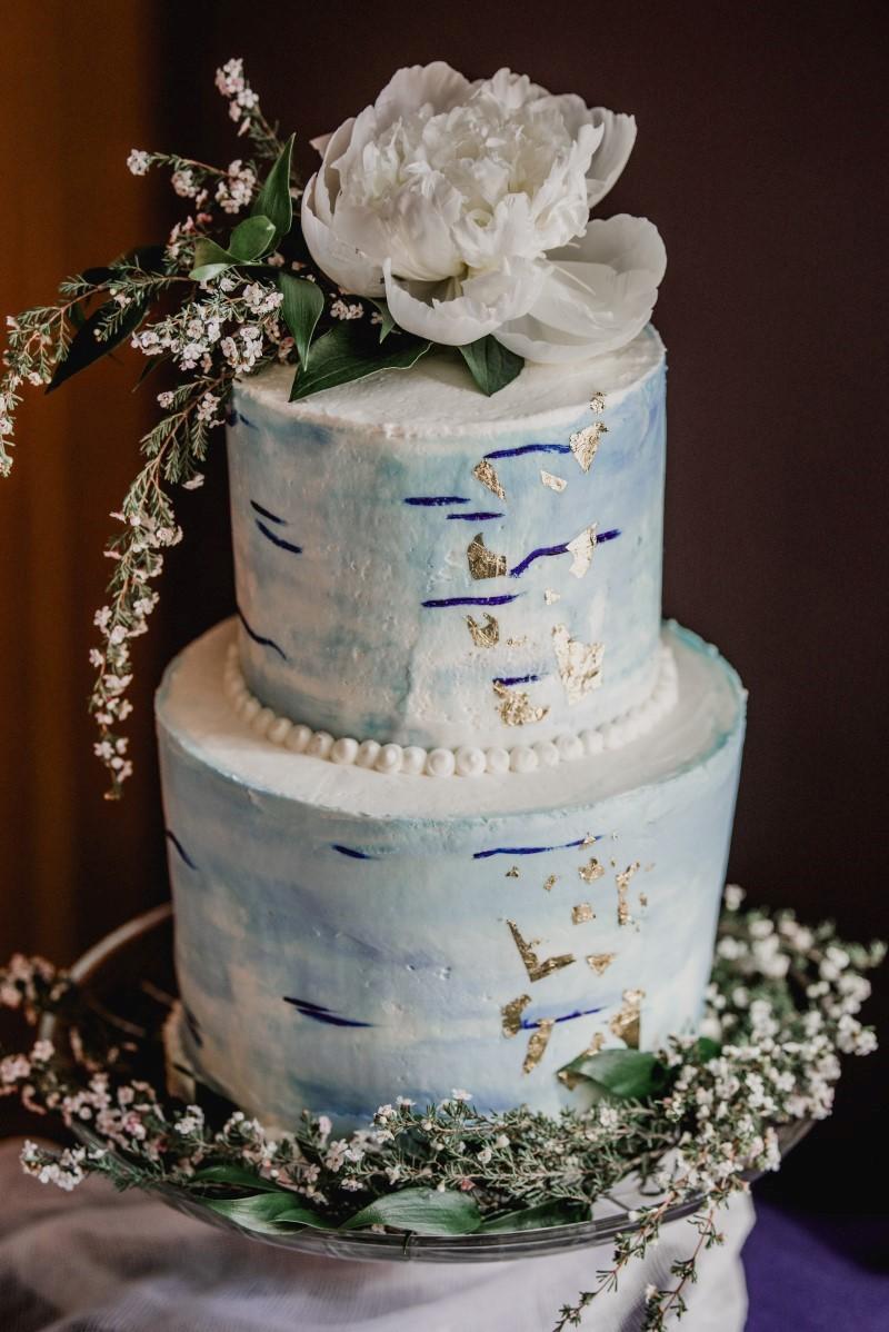 Birch Bark Cake West Coast Weddings Magazine Cake by Taryn Nautical Blue Beauty