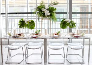 Havana Tropical Bridal Inspiration West Coast Weddings Magazine Glass Table
