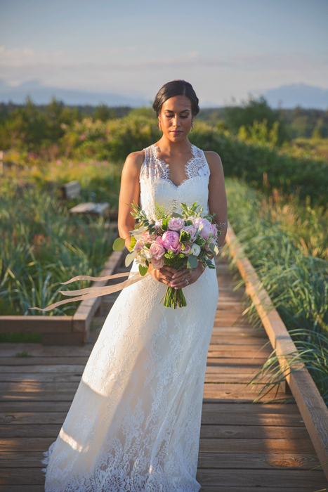 Summer Lace Bride on the Beach Pure Magnolia Danielle Wong Photography