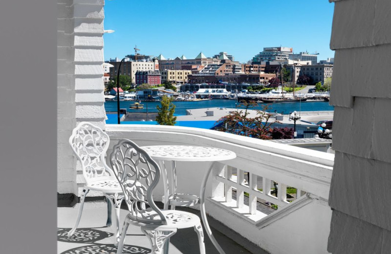 The view of the harbour at Pendray Inn and Tea House by Huntingdon Manor in Victoria British Columbia by West Coast Weddings Magazine