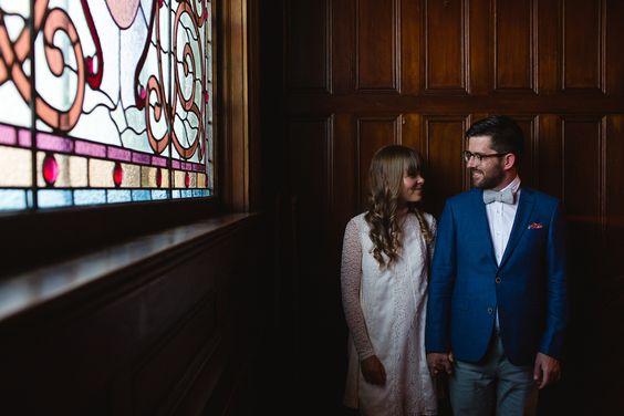 Newlyweds at Pendray Inn & Tea House by Huntingdon Manor in Victoria British Columbia weddings Tegan McMartin Photography