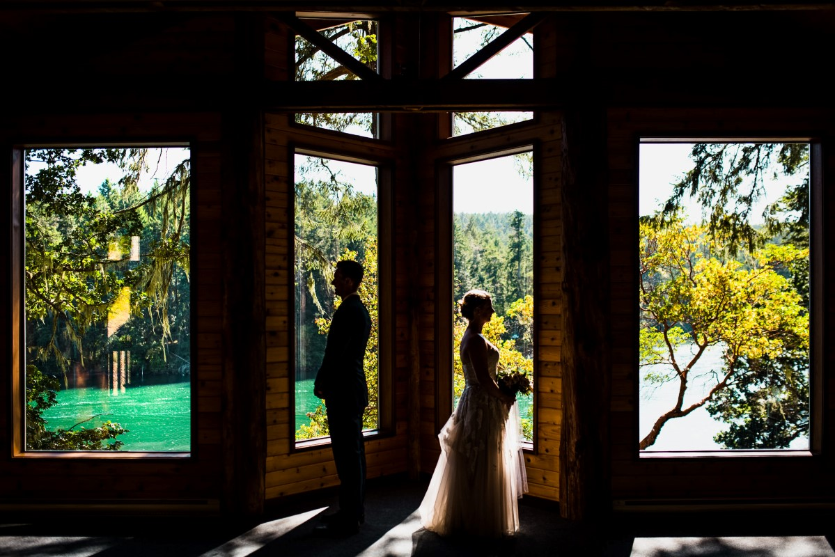 Blue Skies + Ocean Views at Pearson College by Pebble and Pine Photography Vancouver Island Wedding Magazine