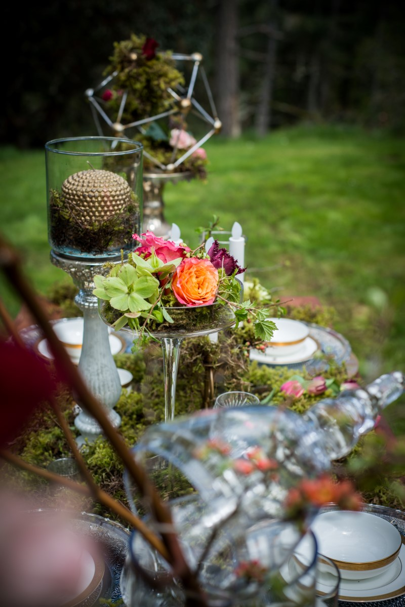 Enchanted Forest Tablescape by Beauty Bride and Jen Steele Photography