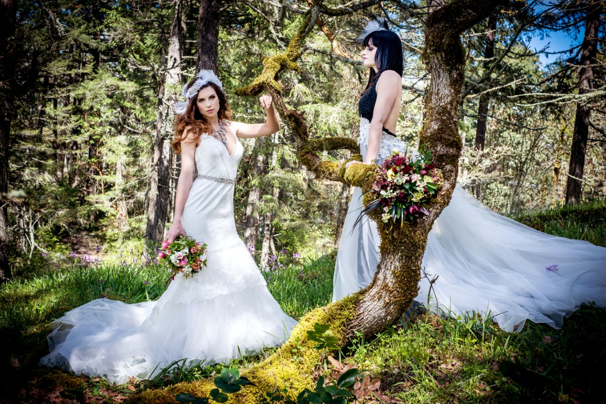 Enchanted Forest Modern Brides by Jen Steele PHotography and Beauty Bride Vancouver Island Magazine
