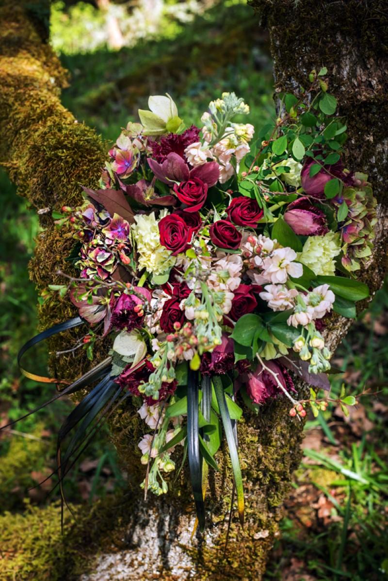 Enchanted Forest Wedding Floral by Fluertacious } West Coast Weddings Magazine