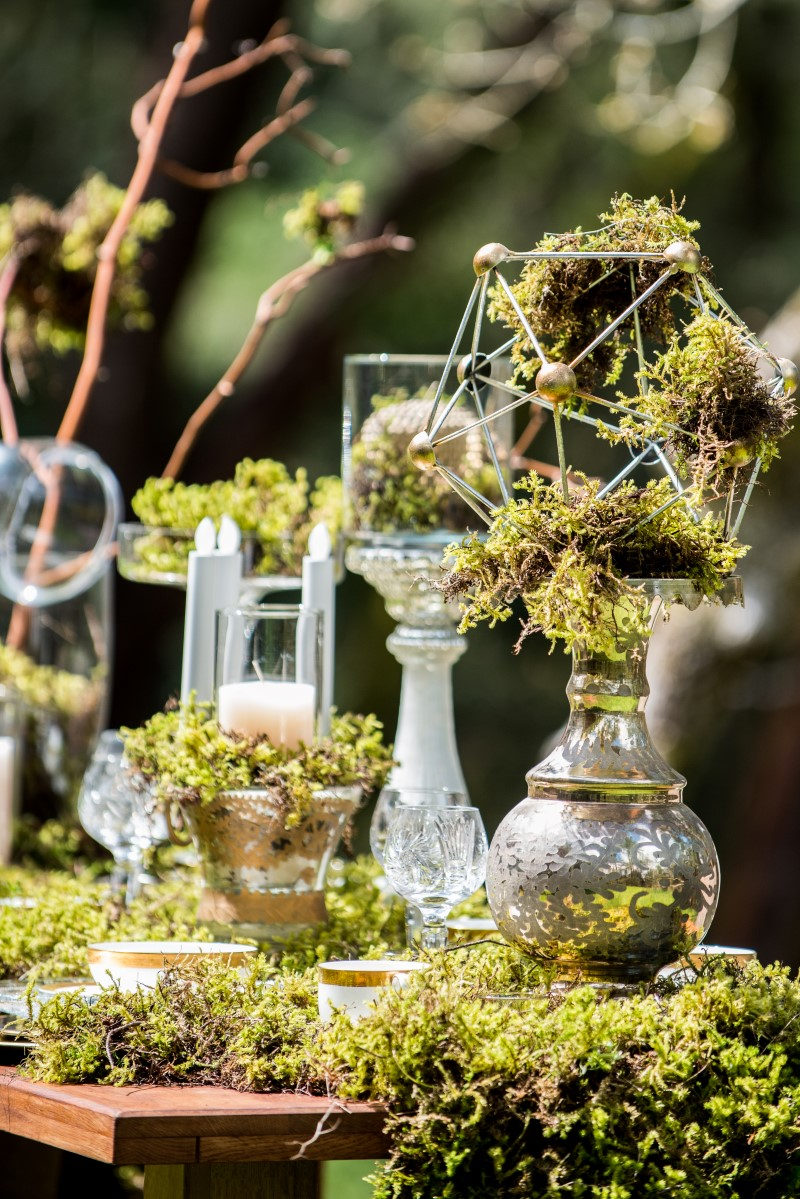 Enchanted Forest Table Candles by Beauty Bride West Coast Weddings Magazine