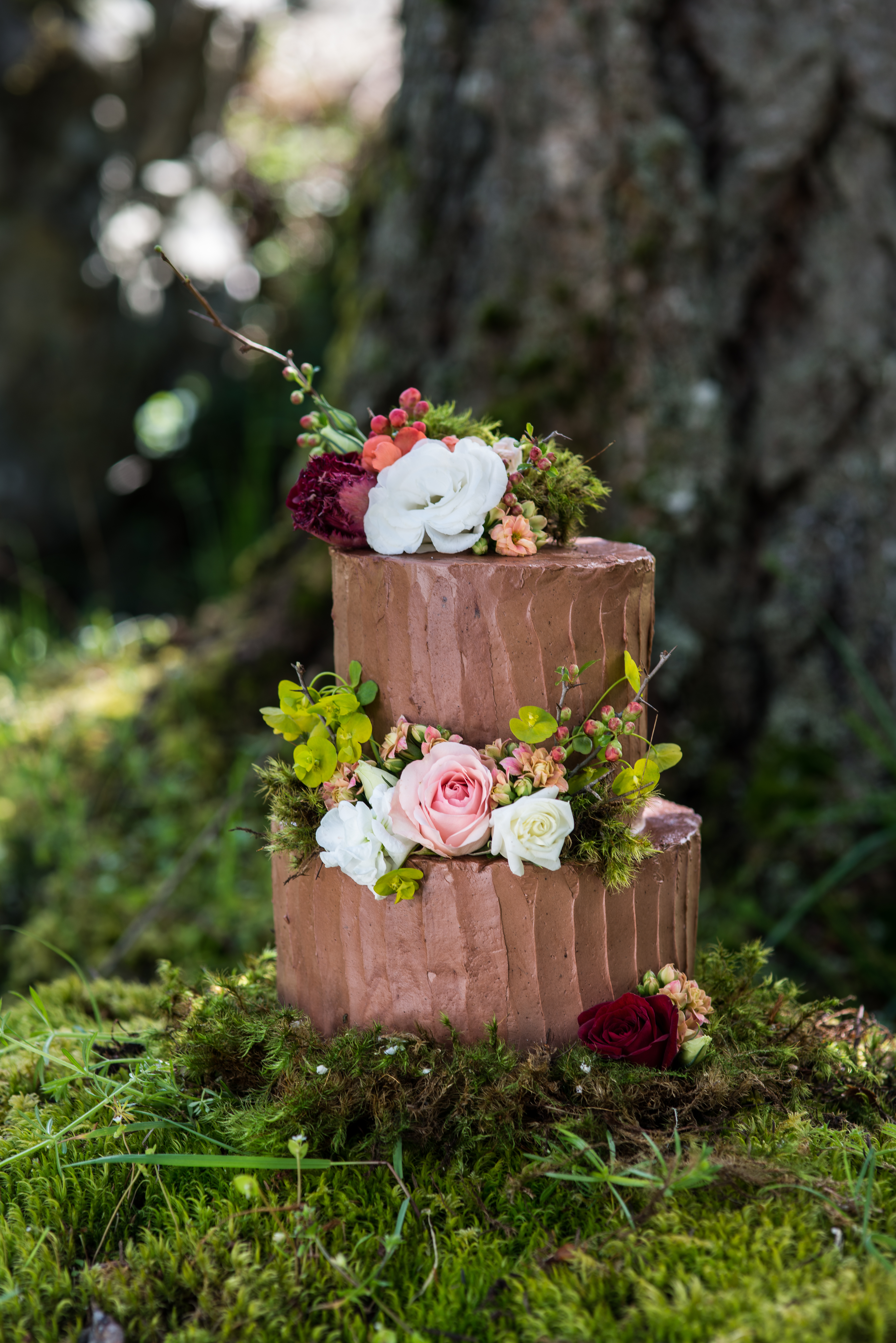 Enchanted Forest Wedding Cake by Schur to Please Boutique Cakery Vancouver Island Magazine