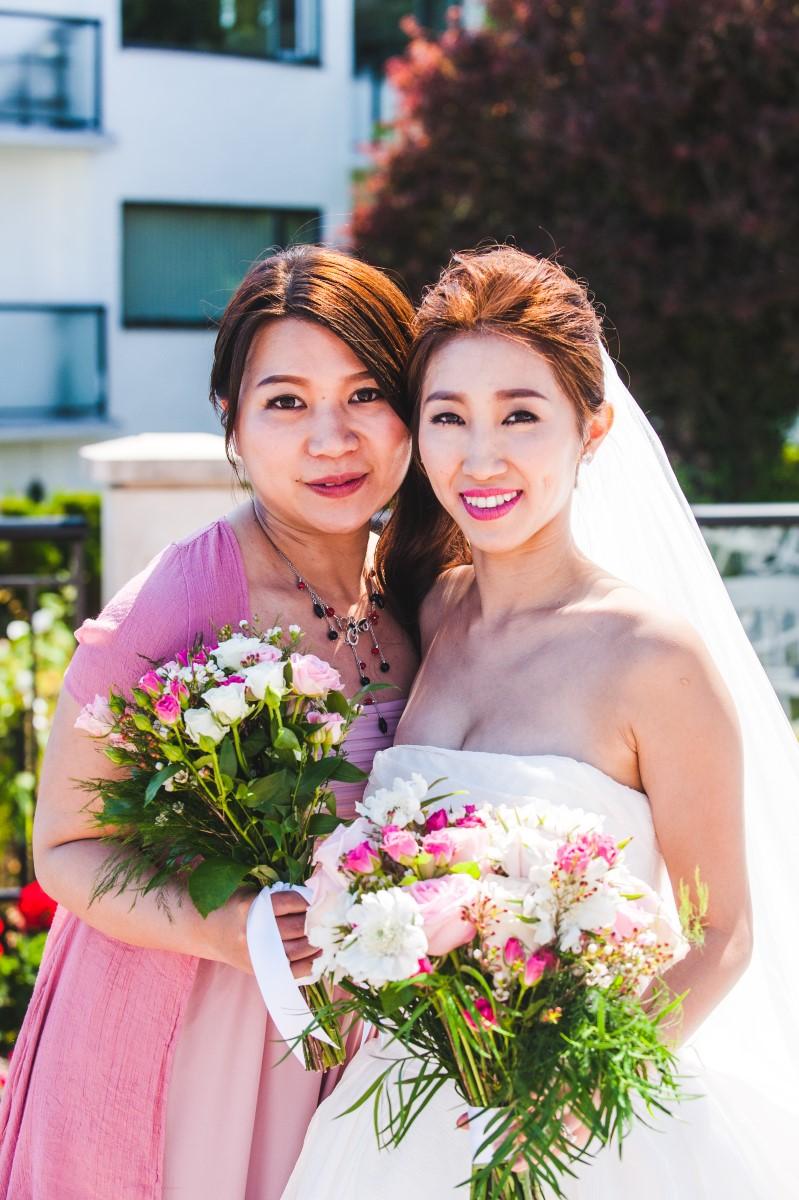 Oak Bay Beach Hotel Wedding with Bride and Groom under Veil