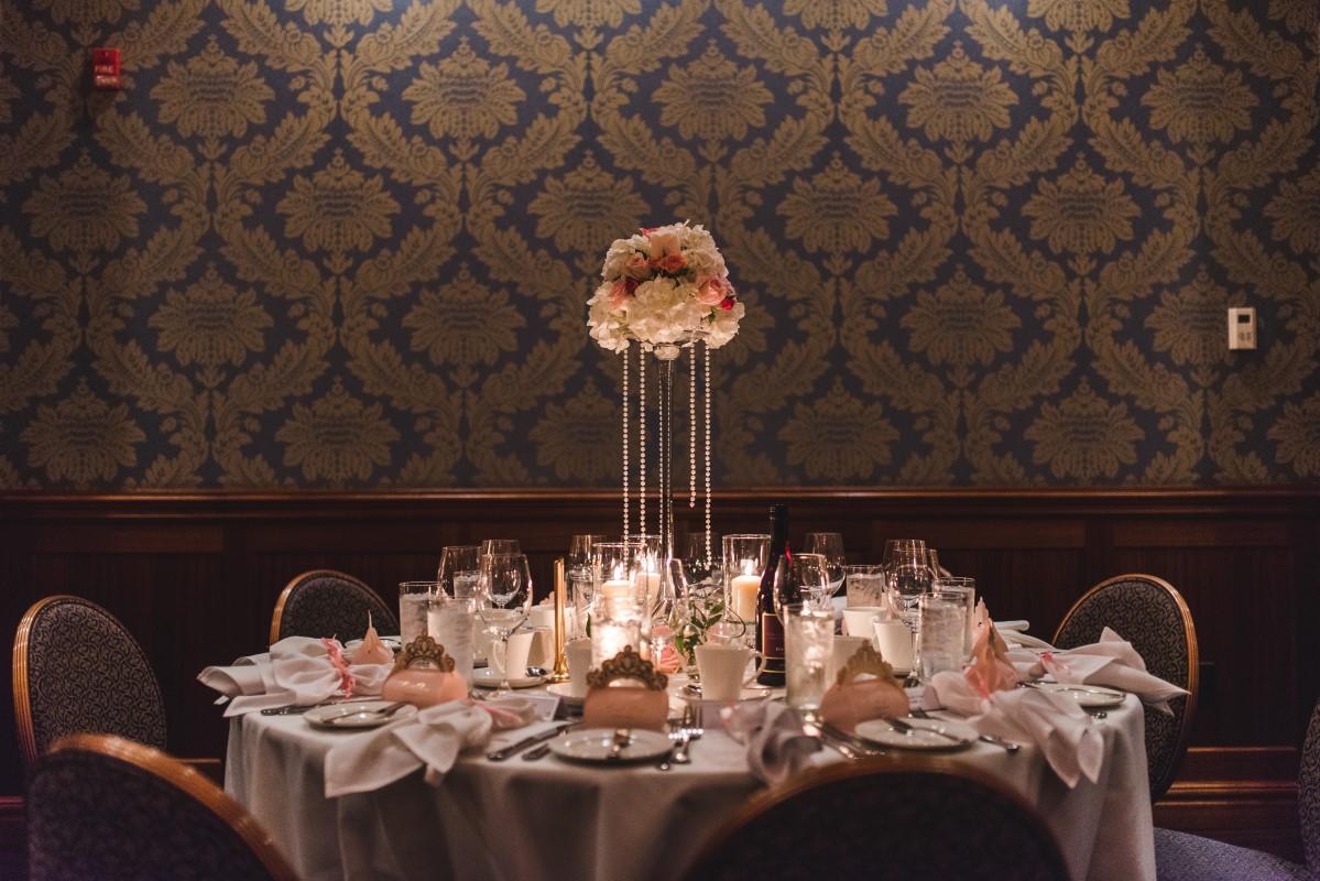 Oak Bay Beach Hotel Wedding Reception Table Decor Blush Pink Decorate Victoria