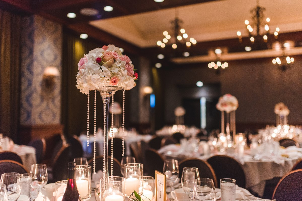 Oak Bay Beach Hotel Wedding Reception with Twinkle Light by Decorate Victoria