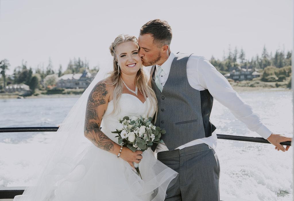 Painters Lodge Couple on the Dock Vancouver Island Wedding Magazine