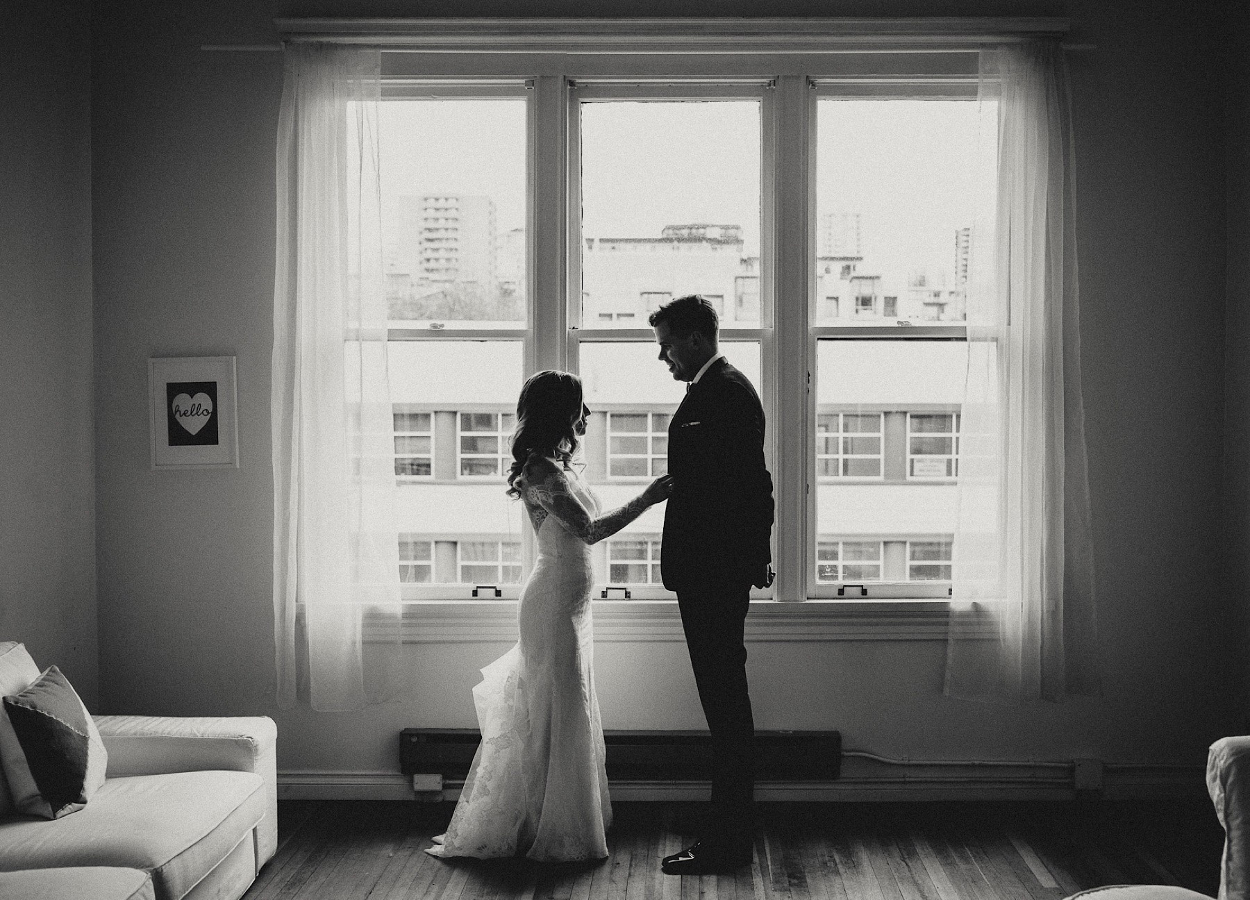 Couple in Silhouette by The Apartment Photo Aston + Charlie - The Magical Cover Shot Vancouver Wedding