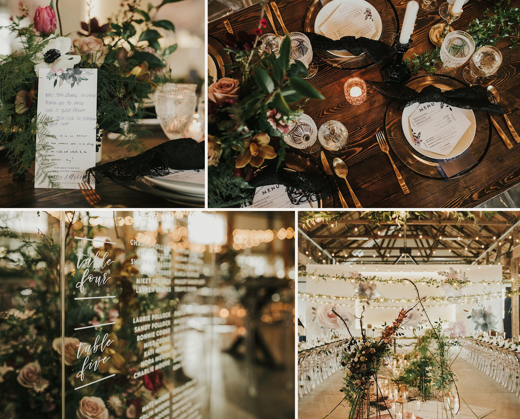 Reception Details by Bespoke Decor Aston + Charlie - The Magical Cover Shot Vancouver Wedding
