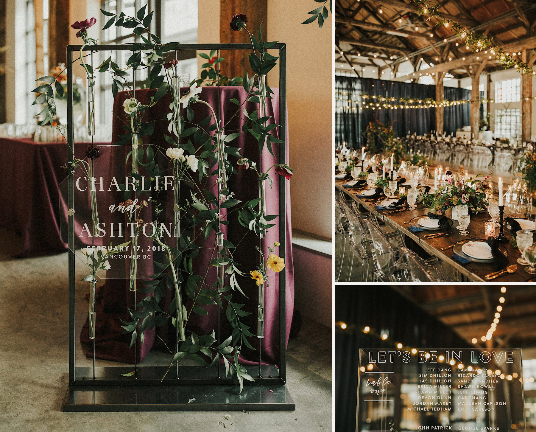 Reception by Bespoke Decor Aston + Charlie - The Magical Cover Shot Vancouver Wedding