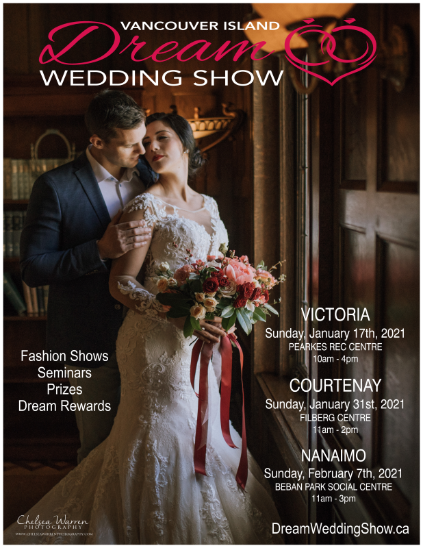 dreamy wedding couple poster for Dream Wedding Show on Vancouver Island