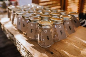 Favours in Jars by Myrtle and Moss Photography Vancouver Island Weddings Magazine
