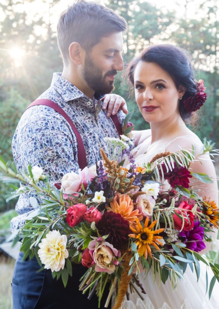 Spanish Style Bridal Bouquet by Little Bee Blooms Vancouver Island Wedding Magazine
