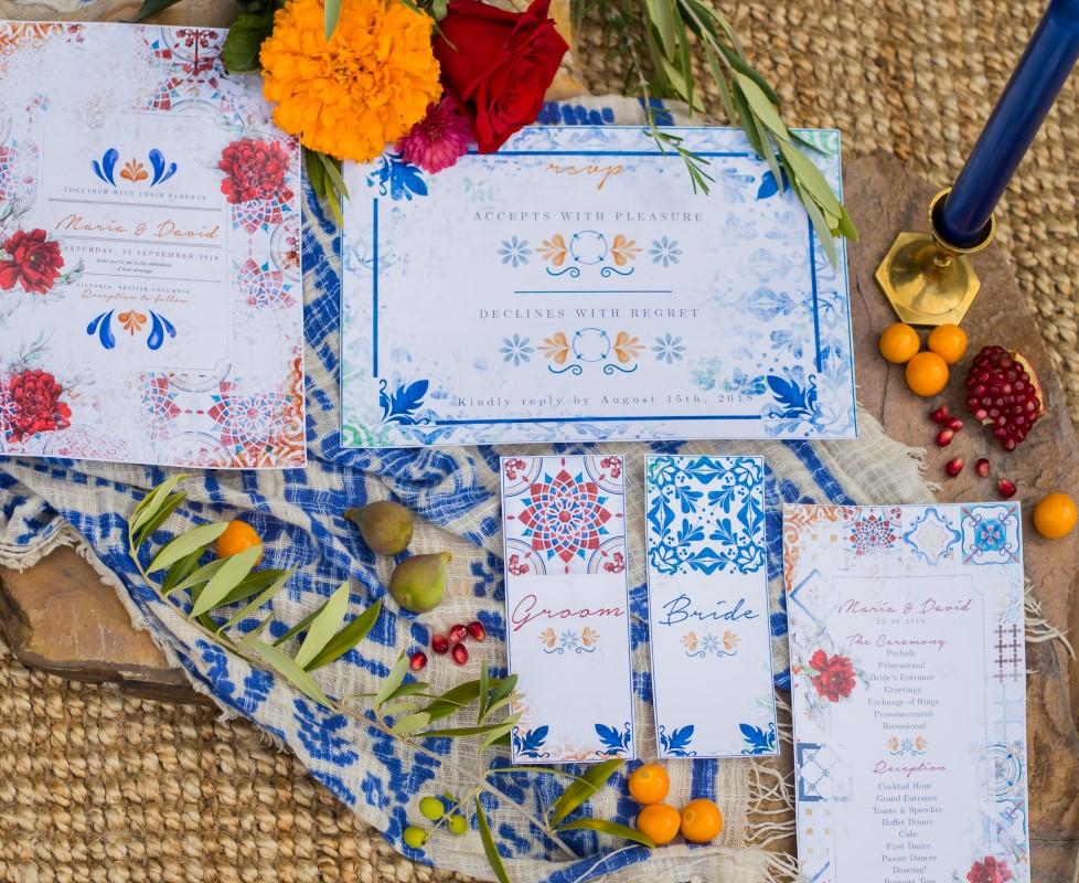 Spanish Style Paper Suite Invitations Vancouver Island Wedding Magazine Studio 745