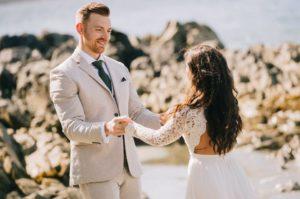 Tofino Elopment Couple dancing on the beach Vancouver Island Wedding Magazine
