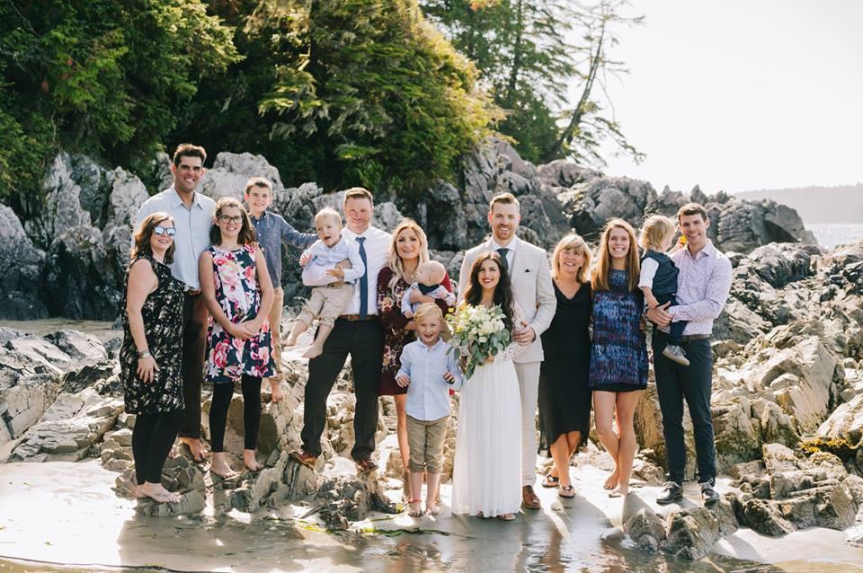 Tofino Elopement Family Photo on the Beach