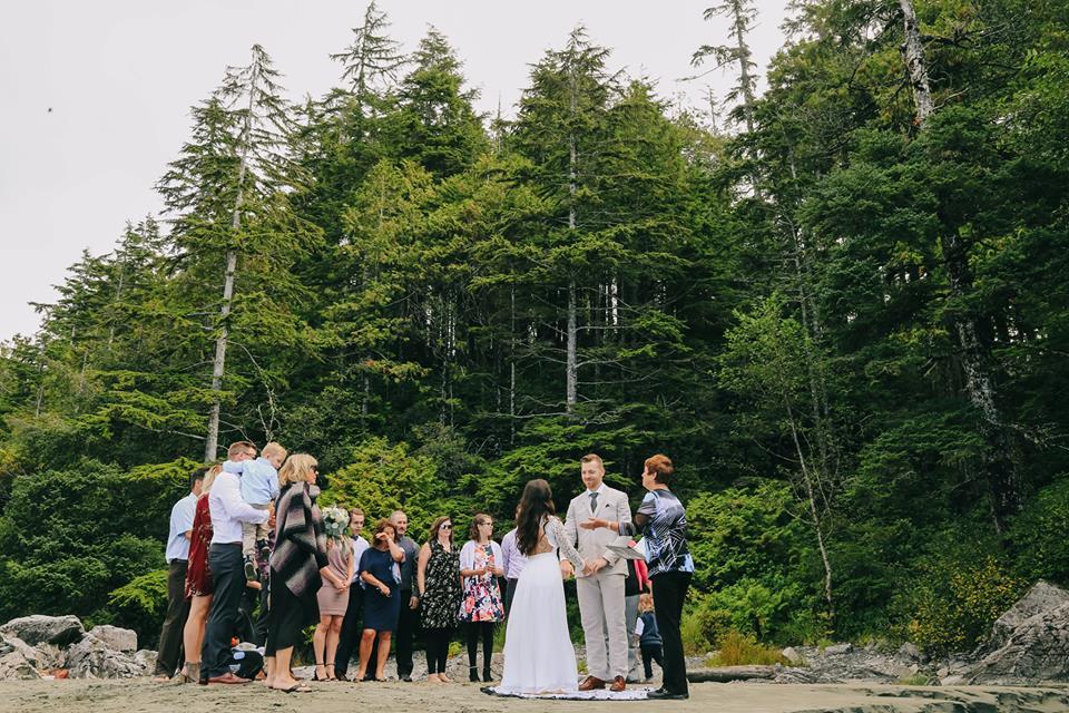 Tofino Elopement Ceremony Tonquin Beach Wedding Vancouver Island