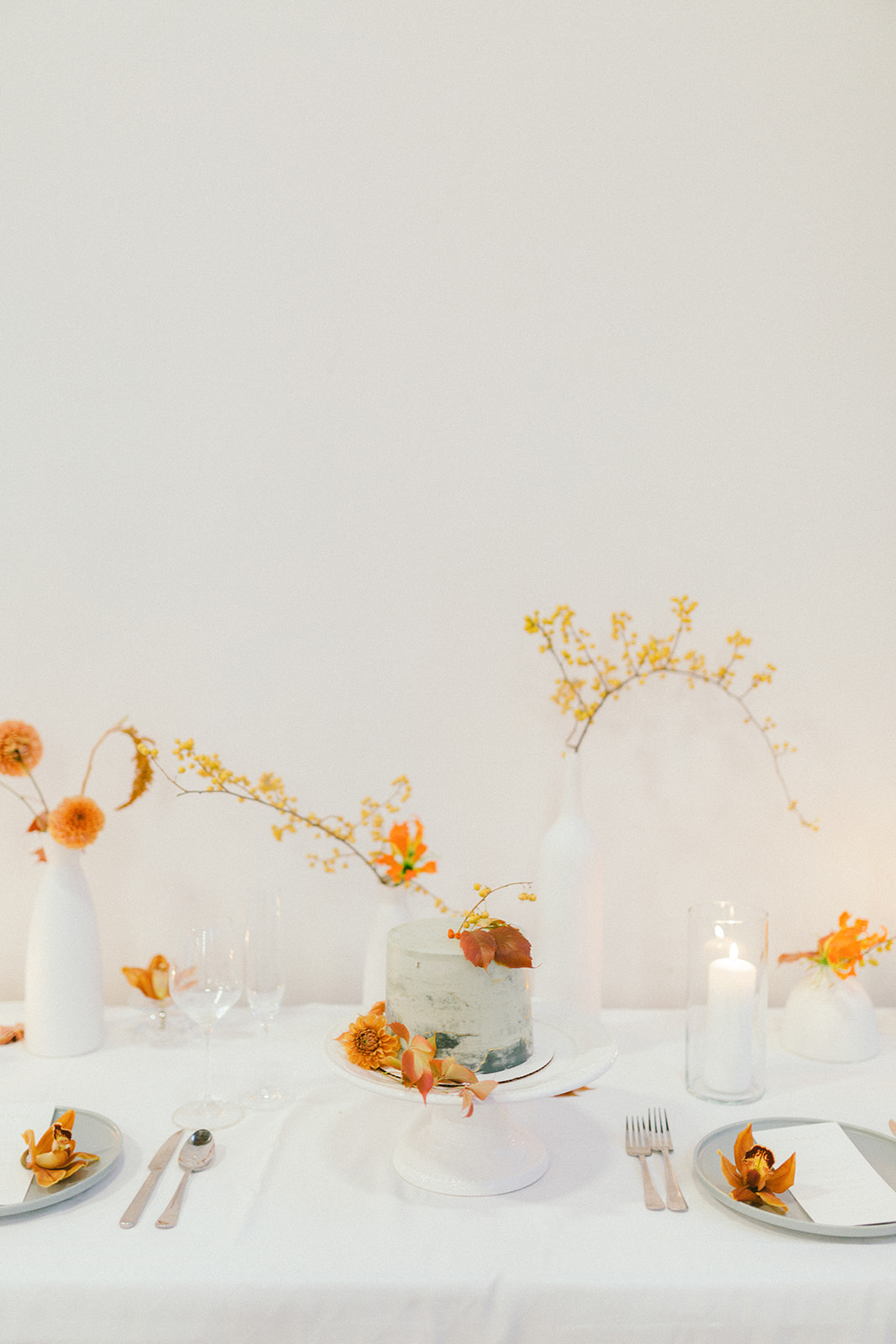 Modern Art Wedding Reception Table by The Lovliest Day Wedding and Events in Vancouver