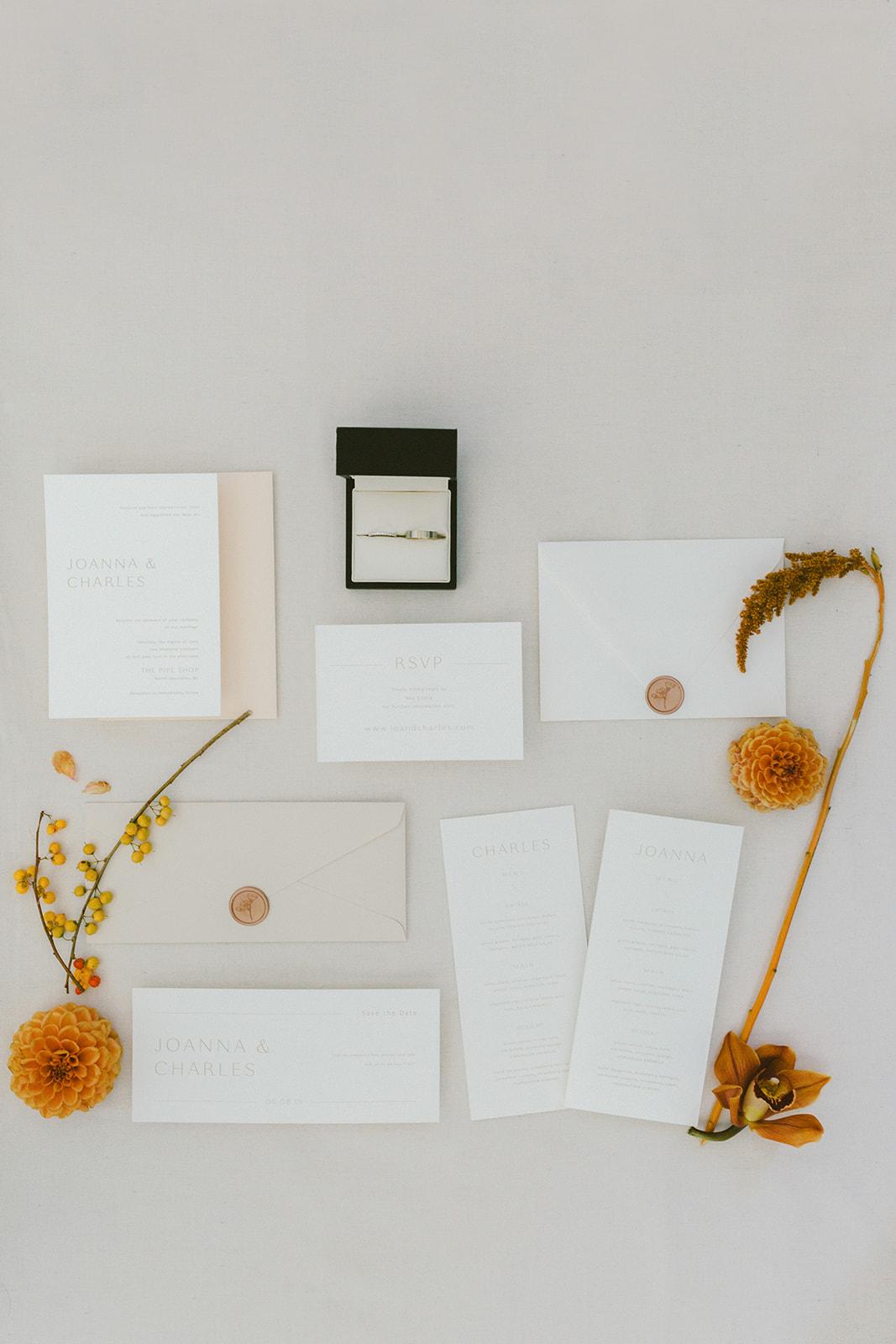 Modern Art Wedding Paper Suite Liza Child Calligraphy