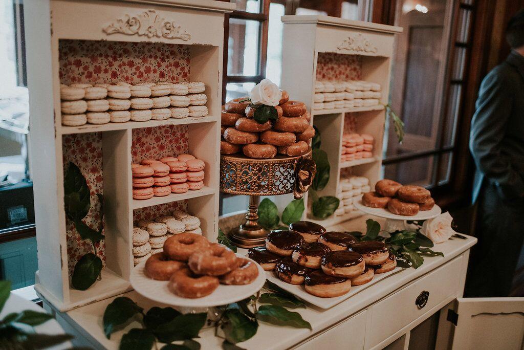 Romantic Donut and Macaron Dessert Bar Schur to Please Cakes on Vancouver Island