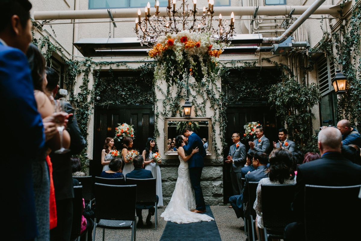 Fusion wedding ceremony at Brix and Morter in Vancouver