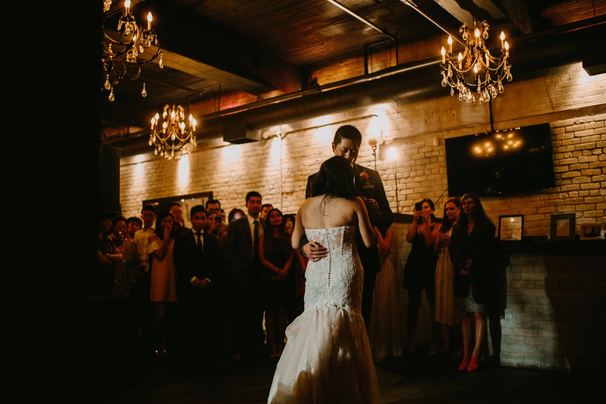 Chinese Newlyweds First Dance in Vancouver Brix and Morter Wedding Venue