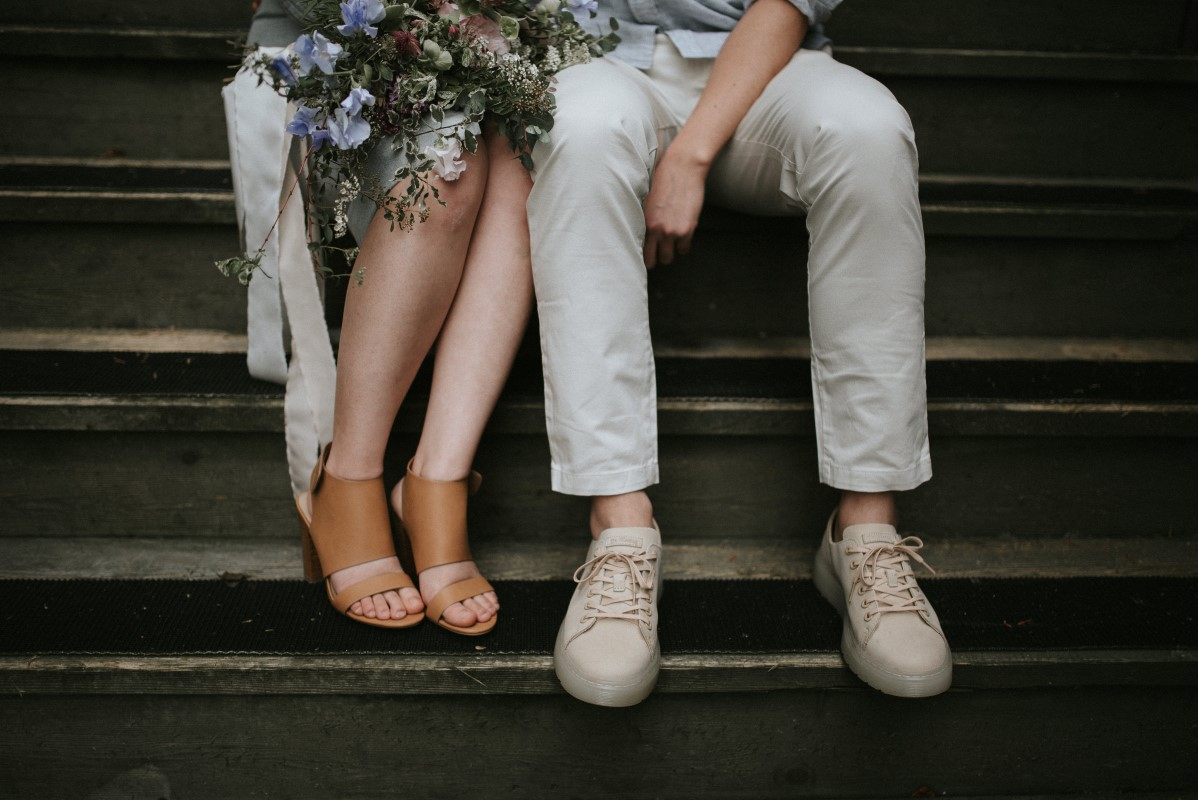 Vancouver Engagement Photoshoot of Couple's Shoes