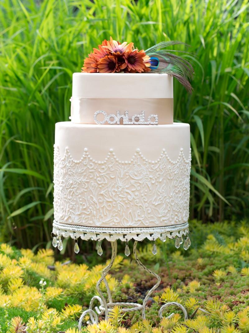 Vibrant Moroccan Theme Wedding Cake by Ooh La La Cupcakes
