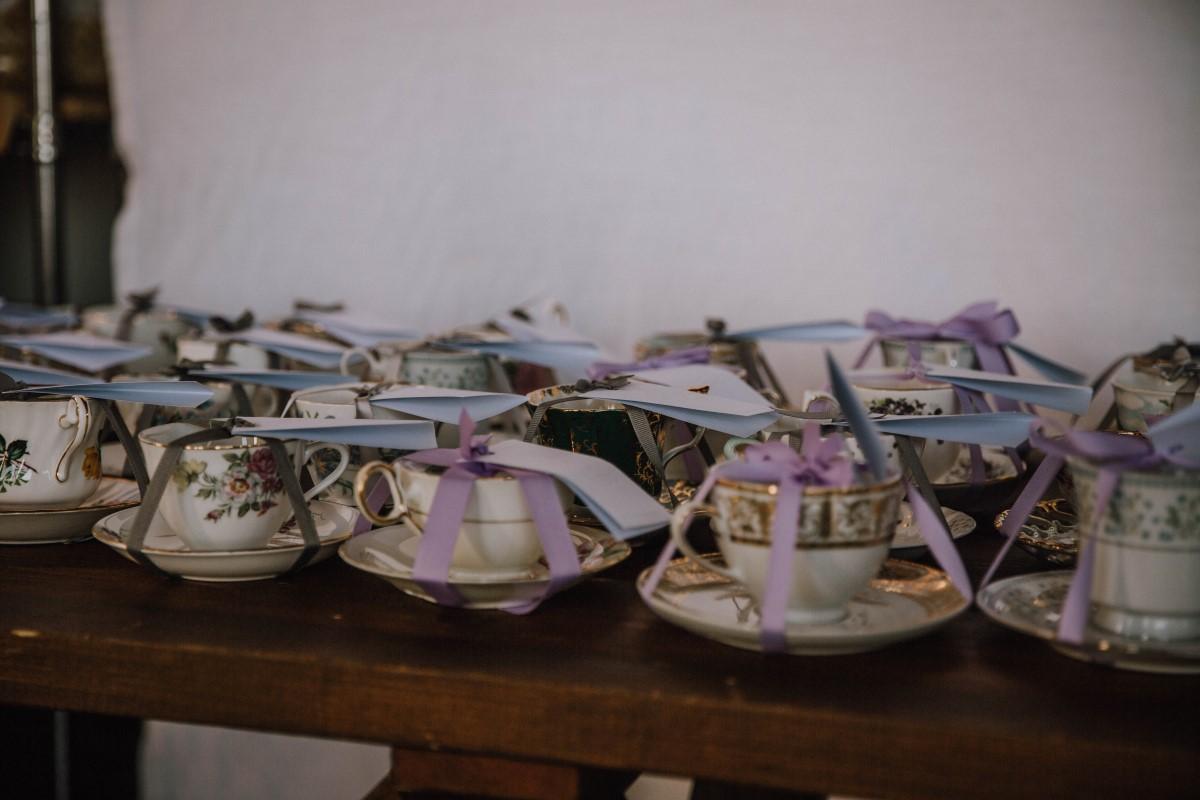 Teacup giveaways at Vancouver Island Wedding