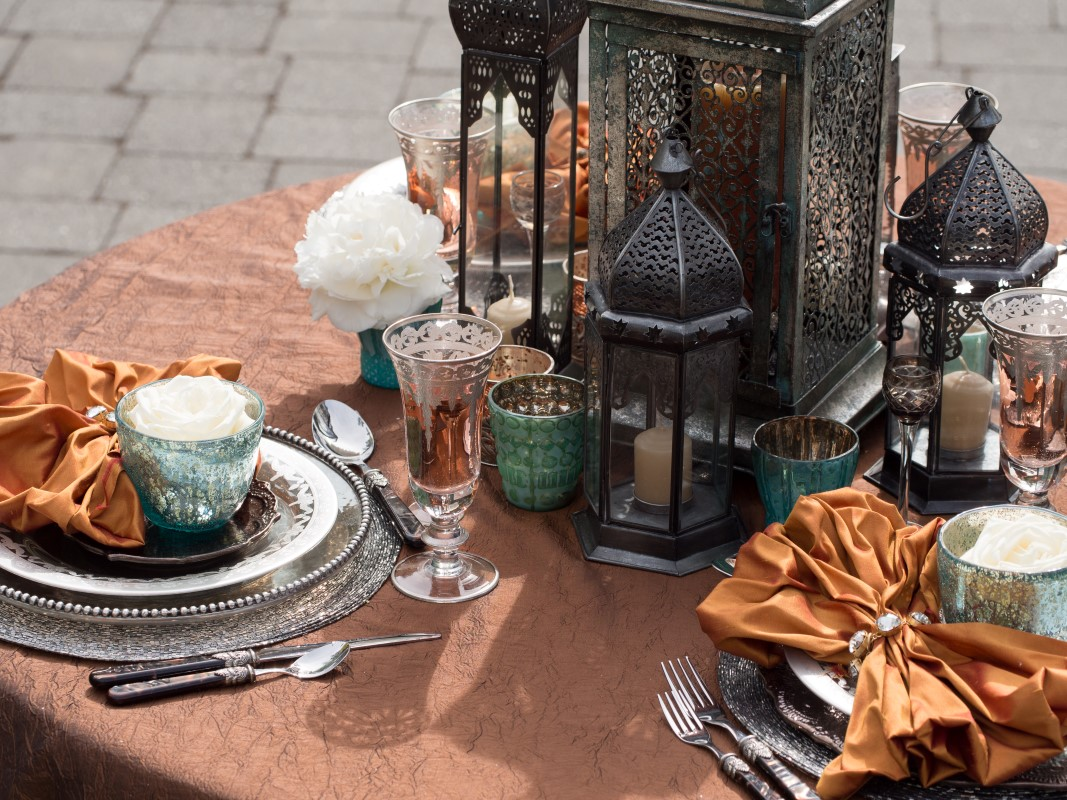 Vibrant Moroccan Theme Tablescape with Tea l TeaLights