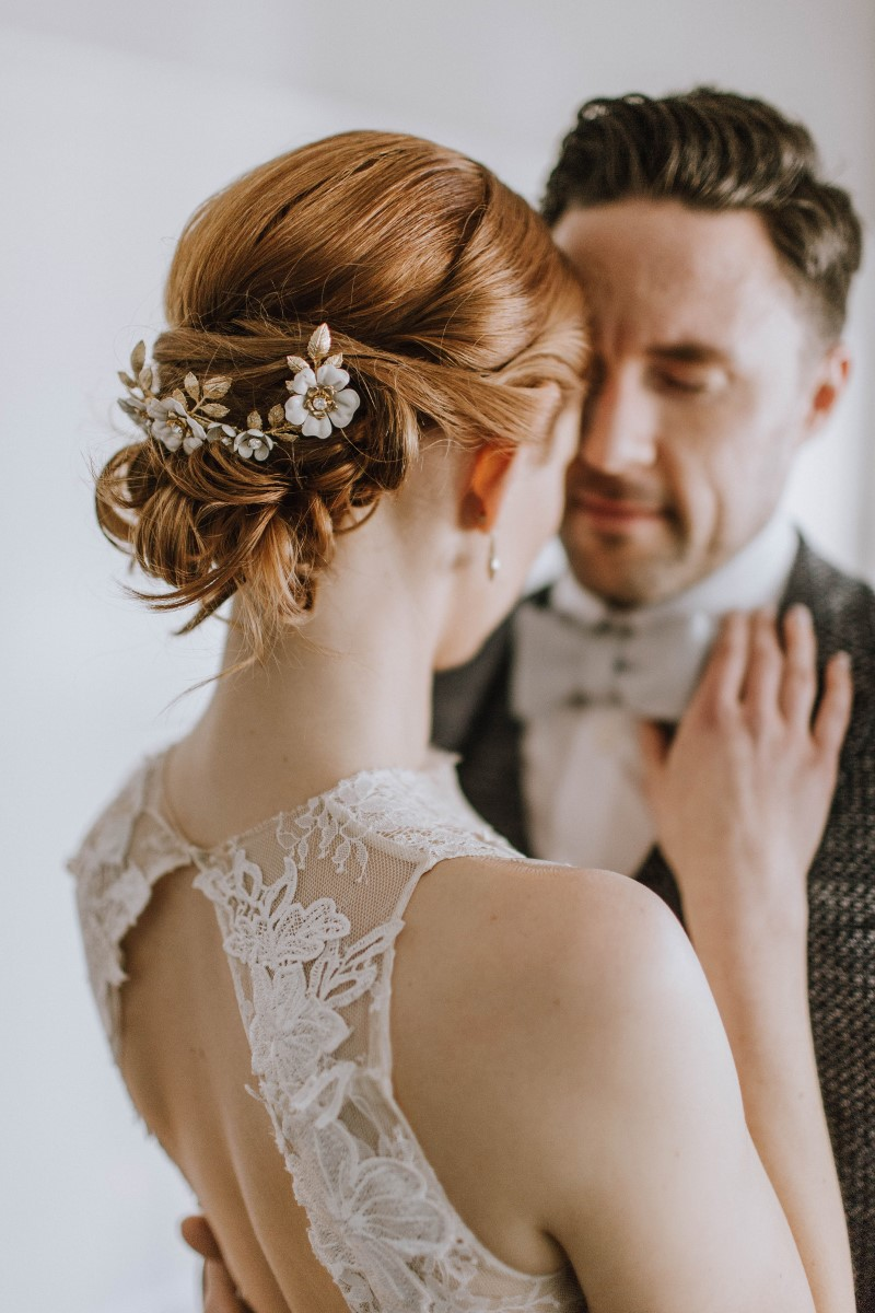 Sophisticated bridal hair by Hair by Jax on Vancouver Island