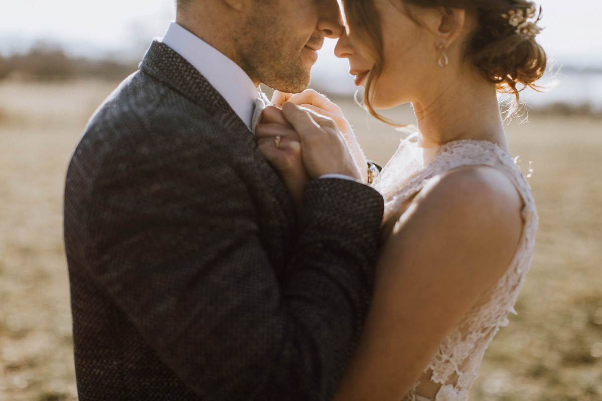 Sophisticated Romance Newlyweds by Borrowed and Blue Events