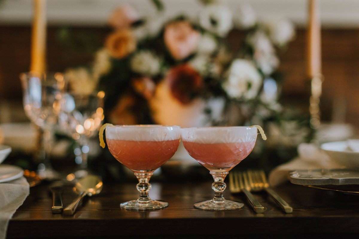 Peach Cocktails by Twist of Fate at Maple Bay Manor on Vancouver Island
