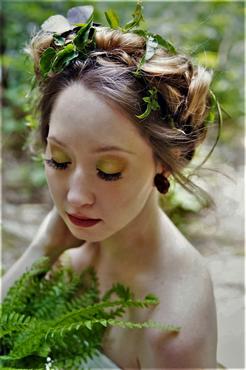 Bride by Vancouver Mobile Makeup with green eyes and braided hairstyle