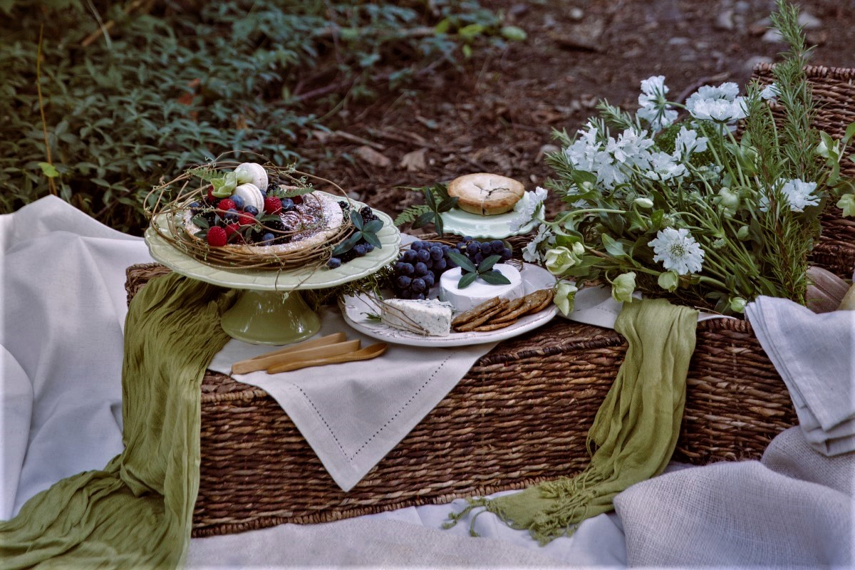 Woodland Picnic on the forest floor