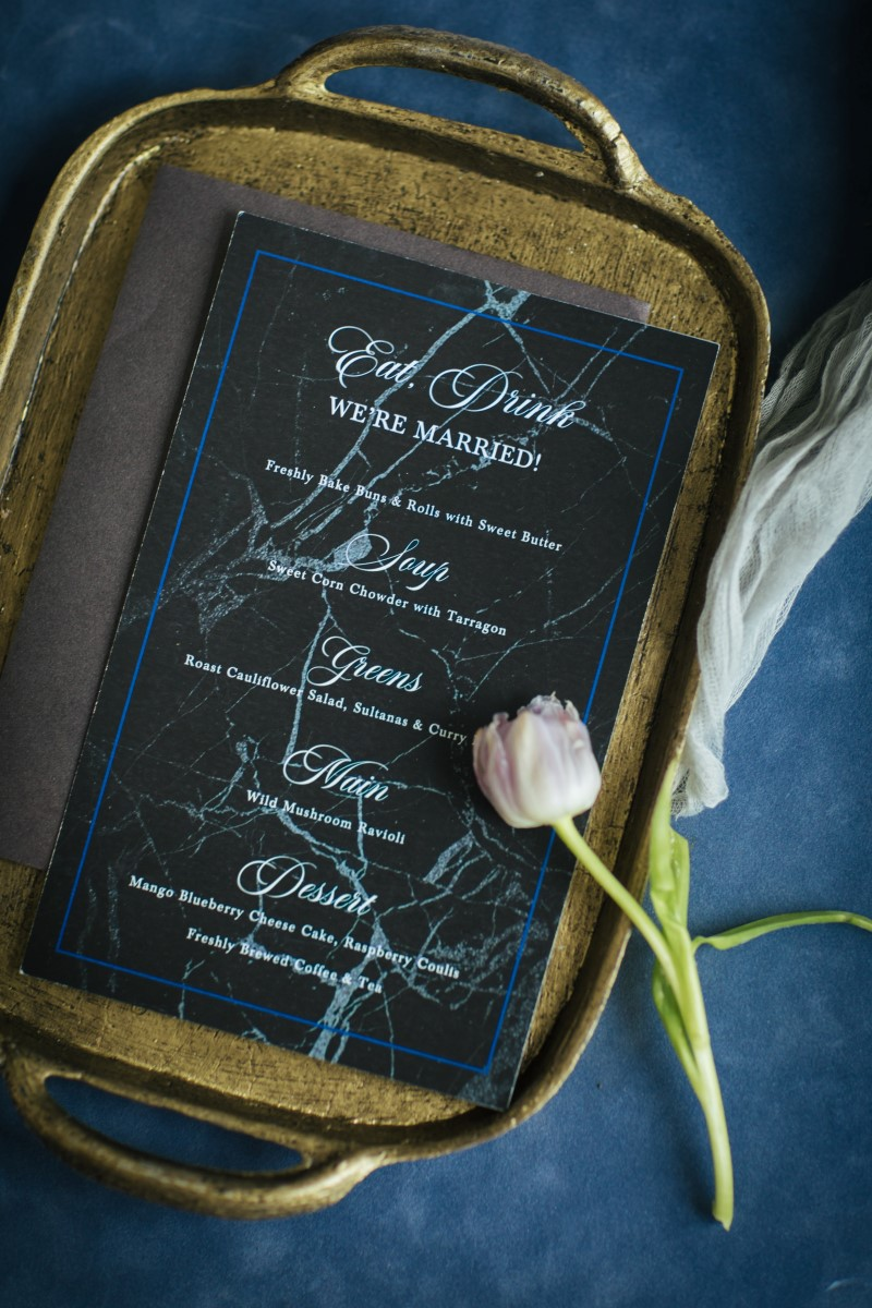 White Calligraphy on Black Stock Paper Suite by Making Memories Studio in Vancouver