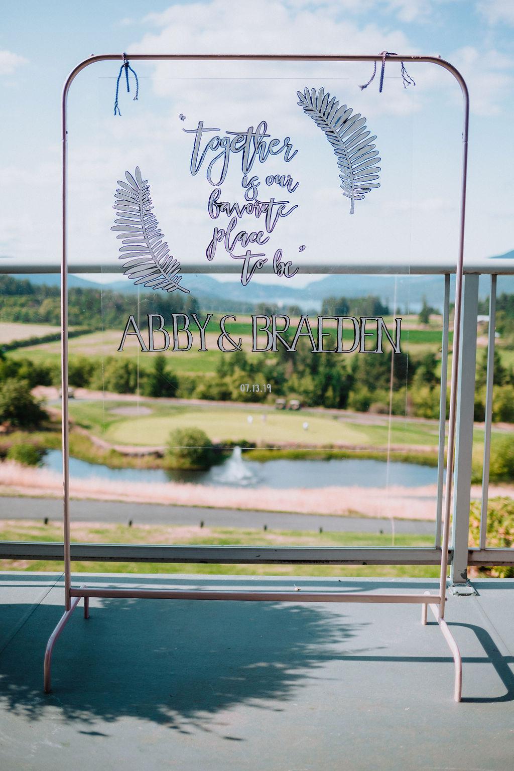 View through window at Arbutus Ridge Golf Course Vancouver Island